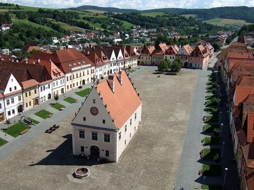 Der Marktplatz von Bardejov