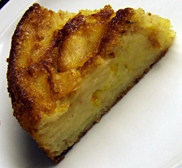 torta di mele con zafferano