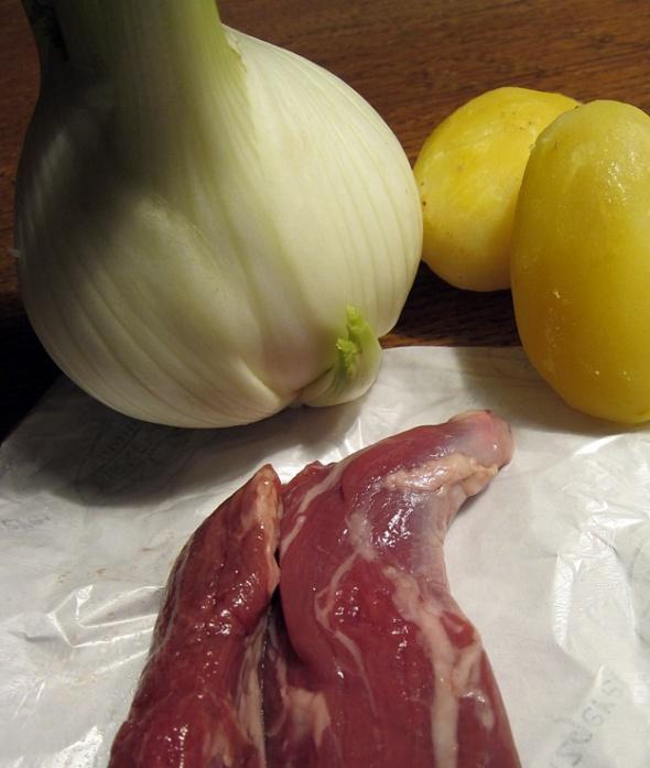 3 Komponenten: Lammfilet, Fenchel und Vortagskartoffeln