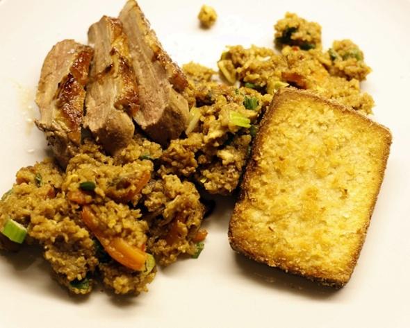 Nasi Goreng mit Ente und Tofu
